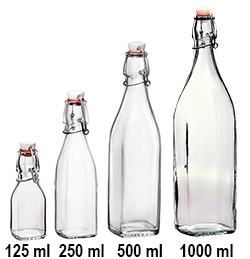 Square 125 ml Swing Top Bottle