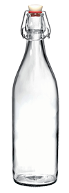 Round 1 liter Giara Swing Top Bottle