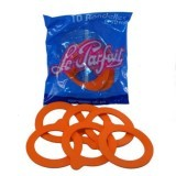 Orange Le Parfait Jar Gaskets - 70 mm : 10 pcs