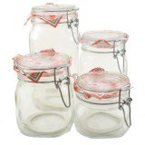 Set of 4 Fido Jars (500ml, 750ml, 1L, and 1.5L)