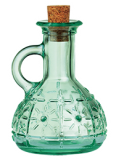 Italian recycled glass cruet oil and vinegar bottle