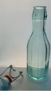 250ML Italian Swing Top faceted glass bottle - eco friendly glass - 24 per case