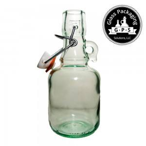Italian eco friendly 8 ounce glass swing top bottle for oil, honey, bbq, vinegar