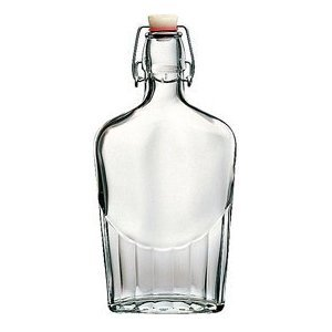 8.5 ounce glass flask from Bormioli Rocco