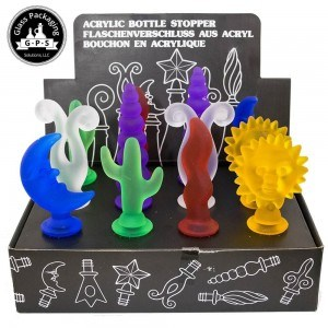 Assorted Acrylic Bottle Stoppers