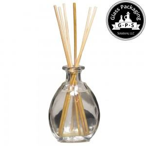 Fragrance diffuser glass bottle from italy