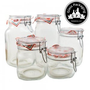 Set of 5 Fido Jars (500ml, 750ml, 1L, 1.5L and 2L)