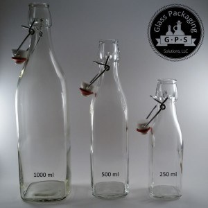 Superb quality from GlasPak in swing top glass bottles